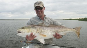 Overcast Skies, High Winds, and Bull Redfish