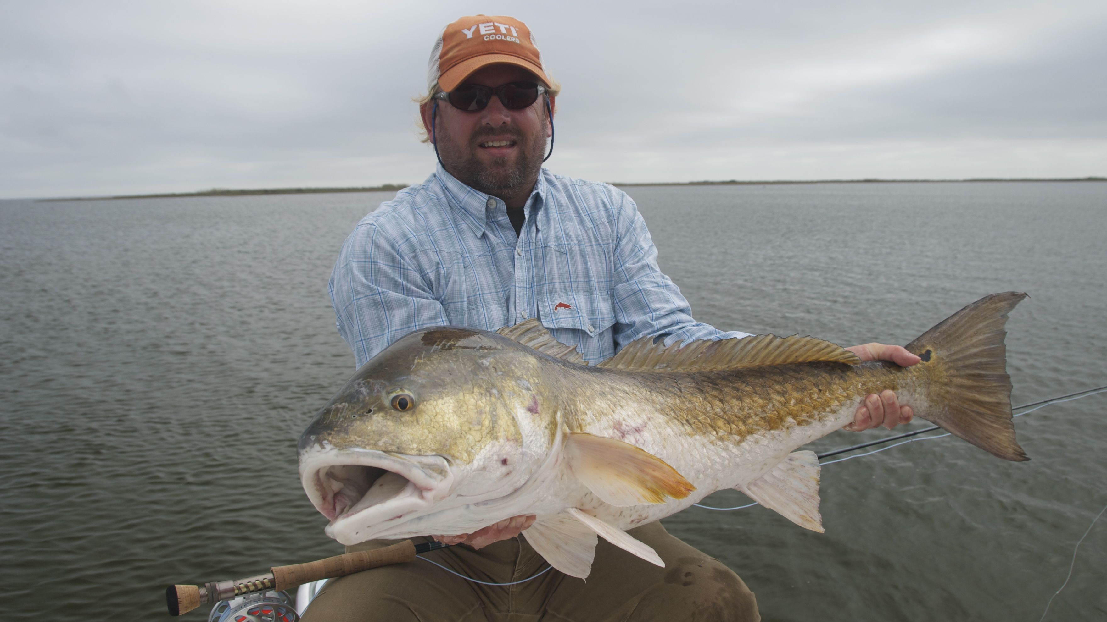 fly fishing for redfish shallow south