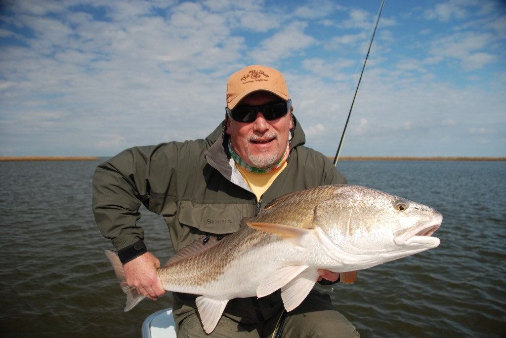 New year same big redfish shallow south for Tides for fishing louisiana