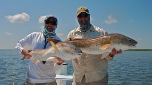 Double up on Bull redfish on the fly