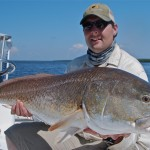 Louisiana Summer fly fishing for Bull Redfish