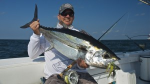 Fly fishing for Blackfin Tuna in Louisiana