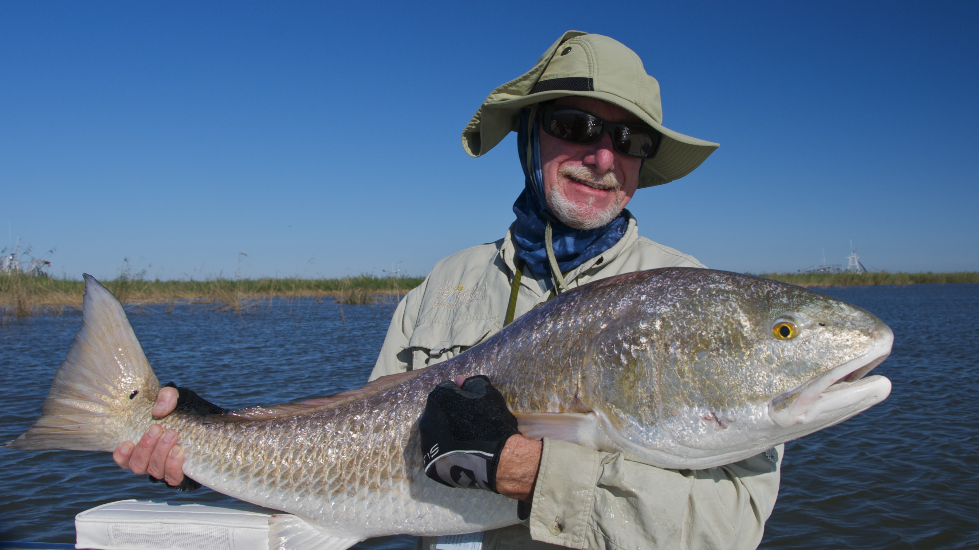 Fly fishing for redfish in november shallow south for Fly fishing redfish